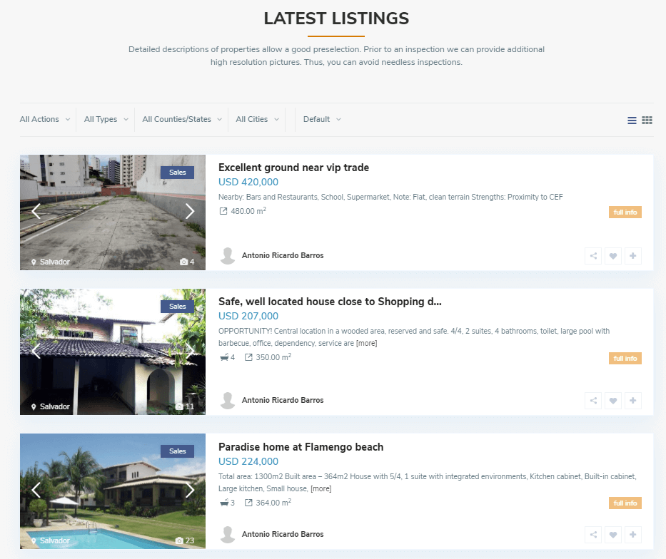 BrazilOasis Real Estate Portal - Screenshot